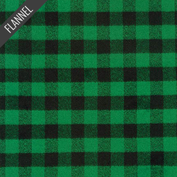 Mammoth Two Check Plaid Flannel in Green