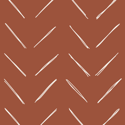 Large Chevron in Rust Red