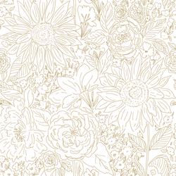 Paperie in Golden Dream on White