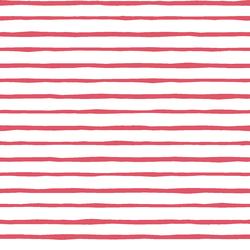 Artisan Stripe in Passion on White