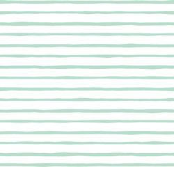 Artisan Stripe in Mint on White