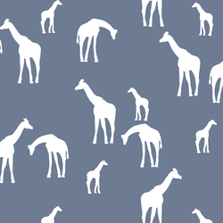 Giraffe Silhouette in Dove
