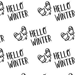 Seasons Greetings in White