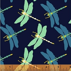 Dragonfly Dance in Navy