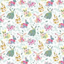 Little Floral Bunnies in Frolic