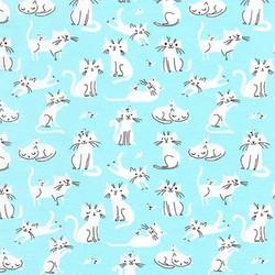 Kittens Knit in Aqua