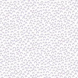 Doodle in Lilac on White