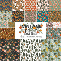 Vintage Fruit Little Scale Fat Quarter Bundle