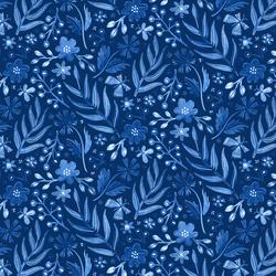 Flutter Floral in Sapphire