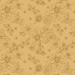 Sketched Florals in Daffodil