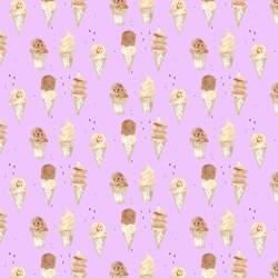 Ice Cream in Bright Violet