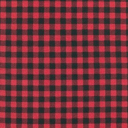 Burly Plaid Flannel in Cardinal