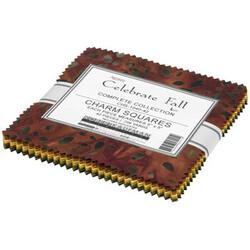 """Celebrate Fall Artisan Batiks 5"""" Square Pack"""