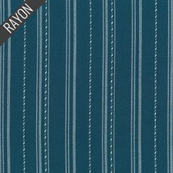 Rayon Twill Yarn Dye in Teal
