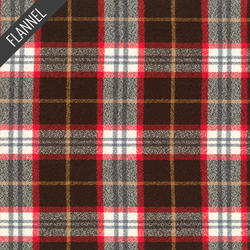 Mammoth Winter Plaid Flannel in Redwood
