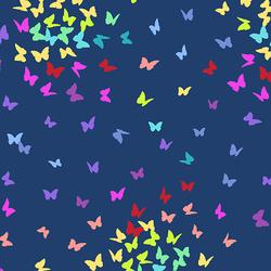 Rainbow Butterflies in Navy