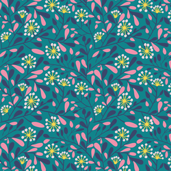 Spring Branches in Teal