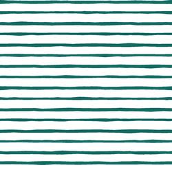 Artisan Stripe in Emerald on White