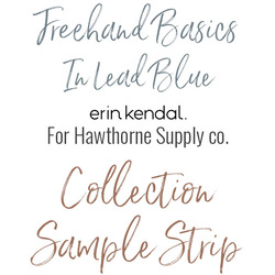 Freehand Basics Low Volume Sample Strip in Lead Blue