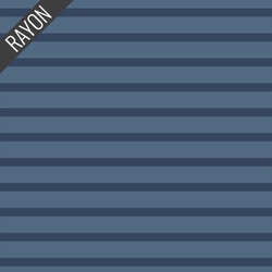 Rayon Stripes in Mariner