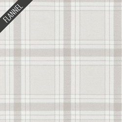 Mammoth Modern Tartan Plaid Flannel in Bone