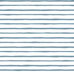 Artisan Stripe in Marine on White