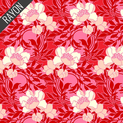 Floral Kisses Rayon in Red