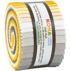 "Kona Solid 2.5"" Strip Junior Roll in Sunny Side Up"