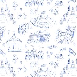 Regent's Park in Lapis Blue