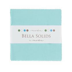 Bella Solids Charm Pack in Egg Blue