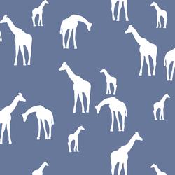 Giraffe Silhouette in Azurite