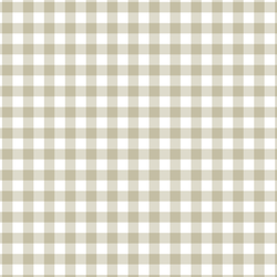 Gingham in Taupe