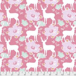 Deer Floral in Pink