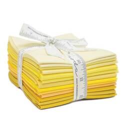 Bella Solids Fat Quarter Bundle in Yellow