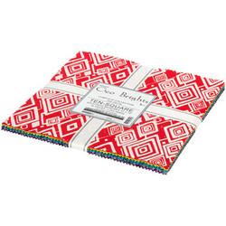 "Geo Brights Artisan Batiks 10"" Square Pack"