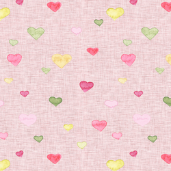 Dear Heart in Sweet Pink Linen
