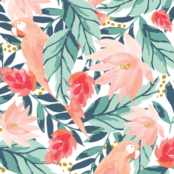 Large Bohemian Floral in Tropical