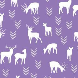 Deer Silhouette in Amethyst