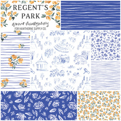 Regent's Park Fat Quarter Bundle in Lapis Blue