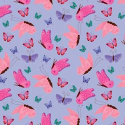 Butterflies in Light Purple