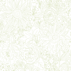 Paperie in Lime Green on White