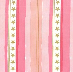 Stars and Stripes Flannel in Pink