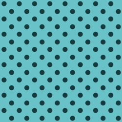Polka Dots in Dark Blue on Raindrop