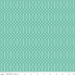 Geometric in Teal