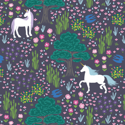 A Unicorn Forest in Ink