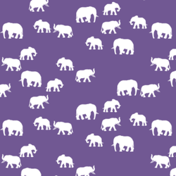 Elephant Silhouette in Ultra Violet