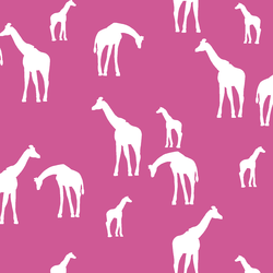 Giraffe Silhouette in Petunia