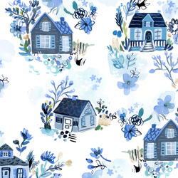 Cottages in White