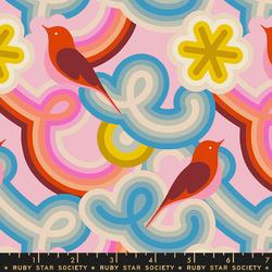 Retro Birds in Peony
