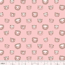 Feline Faces in Pink